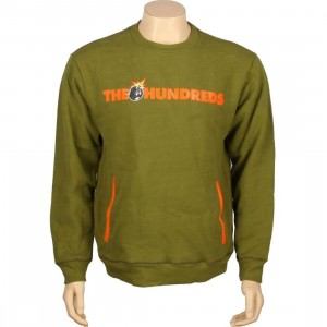 The Hundreds Roo Crewneck (olive)