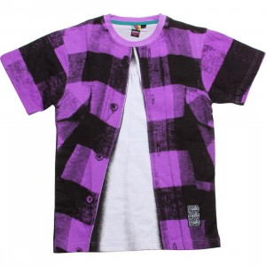 Rock Smith x Crooks and Castles Lumberjack Tee (purple)