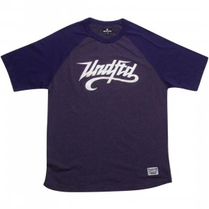 Undefeated Heathered Slash Raglan (purple)