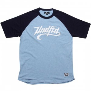 Undefeated Heathered Slash Raglan (navy)