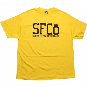 Supra SFCo Tee (yellow / black)