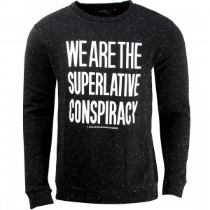 WeSC Clean Message Crewneck Sweater (black)