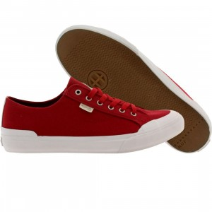 HUF Men Classic Lo Canvas (red / crimson)
