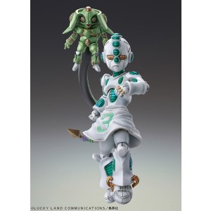 PREORDER - Medicos Super Action Statue JoJo's Bizarre Adventure Part 4 Diamond Is Unbreakable Echoes Act 2 And Echoes Act 3 Chozokado Figure (green)