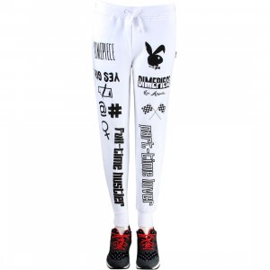 Dimepiece Women Verbage Sweatpants (white)