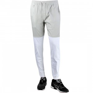 Publish Two-Tone Jogger Pant (gray / white)