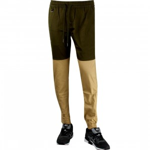Publish Two-Tone Jogger Pant (olive / khaki)