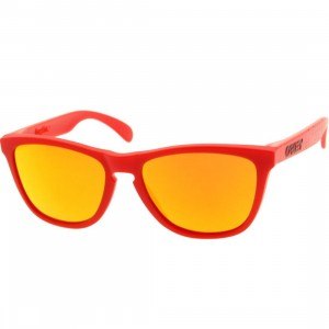 Oakley Frogskins Matte Sunglasses (red / fire)