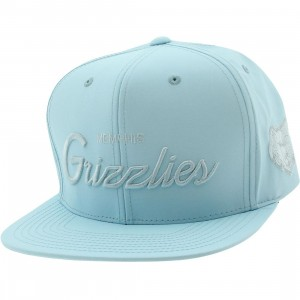 Mitchell And Ness Memphis Grizzlies 3M Crown Snapback Cap (blue / light blue)
