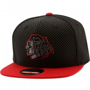American Needle Chicago Blackhawks Star Child Snapback Cap (black / gray / red)