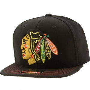 American Needle Chicago Blackhawks Mammoth Snapback Cap (black / black)