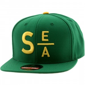 American Needle Seattle Divided Snapback Cap (green / gold)
