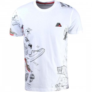 Staple Men Pigeon Sketch Tee (white)