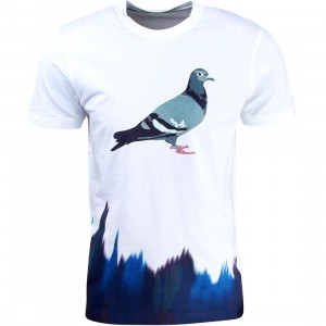 Staple Men Glaze Pigeon Tee (white / navy)