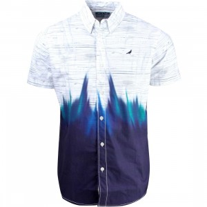 Staple Men Glaze Woven Short Sleeve Shirt (navy)