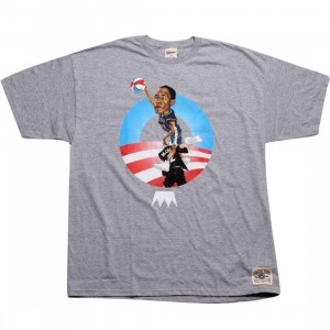 Under Crown Obama O-Face Tee (heather grey)