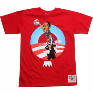 Under Crown Obama O-Face Tee (red)