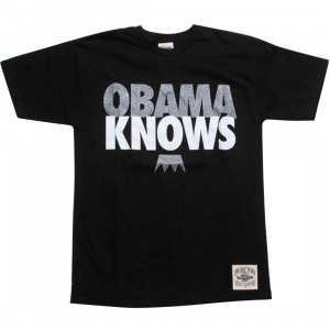 Under Crown Obama Knows Tee (black / elephant print / white)