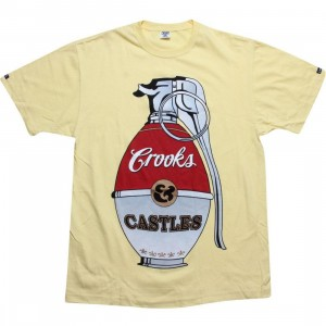 Crooks and Castles War Halls Grenade Tee (canary)