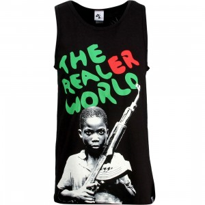 Akomplice Men The Realer World Tank Top (black / green / red)