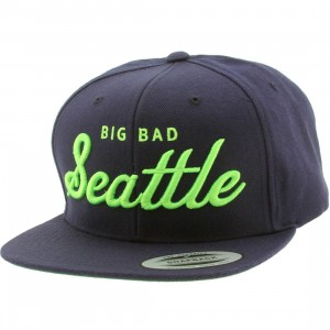Heritage Headwear Big Bad Seattle Cap (navy / lime)