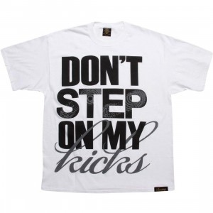 Sneaktip Dont Step On My Kicks Tee (white / black)