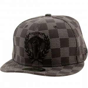 Crooks and Castles Checkered New Era Fitted Cap (black / graphite / black)