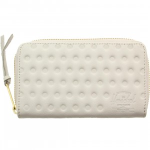 Herschel Supply co Thomas Leather Wallet (white / white polka dot)