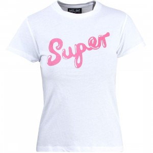 Lazy Oaf Women Super Fitted Tee (white)