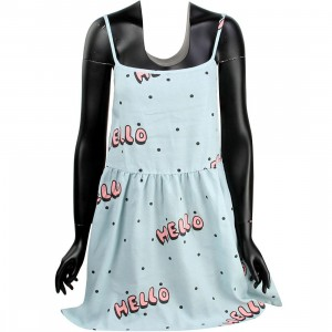 Lazy Oaf Women Hello Hello Dress (blue)