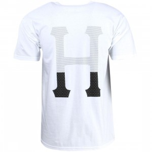 HUF Men Dipped Classic H Tee (white)