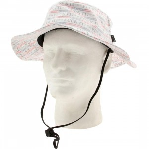 HUF Fuck It Push Thru Jungle Hat (white)