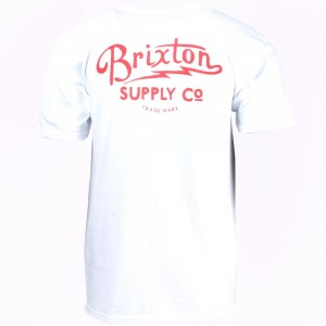 Brixton Men Thorton Standard Tee (white)