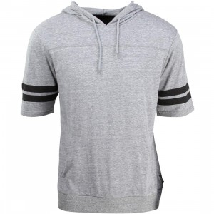 Brixton Men Voyager Hooded Knit Sweater (gray)