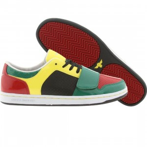 Creative Recreation Womens Cesario Low (emerald / red / neon yellow)