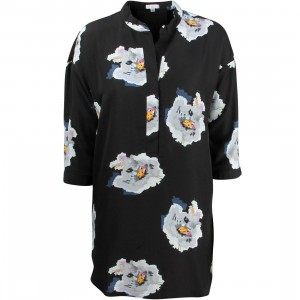 Tavik Women Pope Shirt Dress (black / floral)