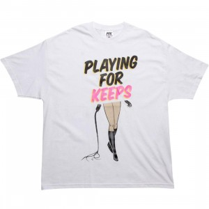 Playing For Keeps Whip Tee (white)