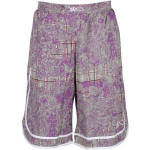 K1X Check Ya Mama Reversible Short (plum / grey / black)