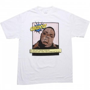 Caked Out Big Pop Tee (white)