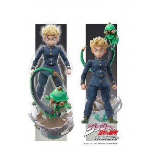 PREORDER - Medicos Super Action Statue JoJo's Bizarre Adventure Part 4 Diamond Is Unbreakable Koichi Hirose And Echoes Act 1 Chozokado Figure (navy)