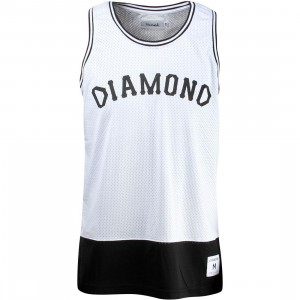 Diamond Supply Co Men Diamond Arch Basketball Jersey (white)