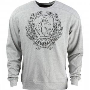 Crooks and Castles Men The Monolithic Empire Sweater (gray / heather)