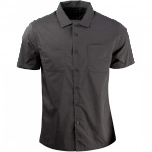 RVCA Men Overtime Short Sleeve Shirt - Recession Pack (black / pirate)