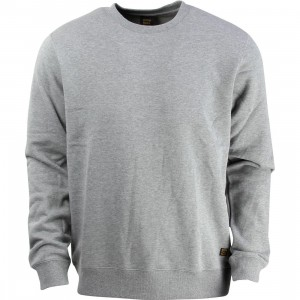 RVCA Men Recession Fleece Crewneck Sweater (gray / athletic heather)
