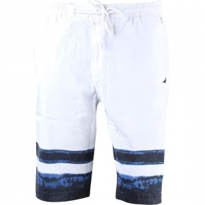 Staple Men Indigo Stripe Shorts (white)