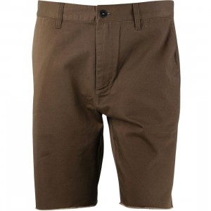 RVCA Men Dayshift Cutoff Shorts (brown / chocolate)