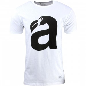 Akomplice Men Big Beak Tee (white / black)