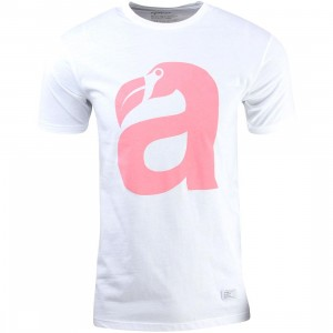 Akomplice Men Big Beak Tee (white / coral)