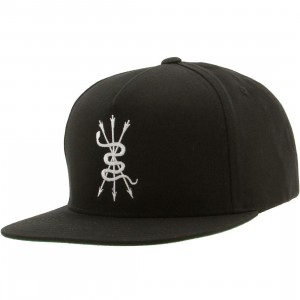 Bloodbath Serpentine 5 Panel Snapback Cap (black)