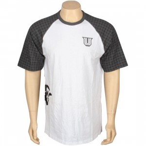 Undefeated 5 Strike Raglan (white / grey)